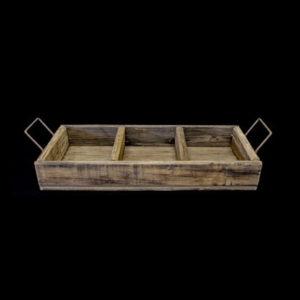 Carpinteria Product 3 Devisio Tray With Handles