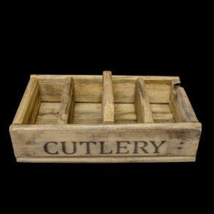 Carpinteria Product 4 Division Cutlery Tray