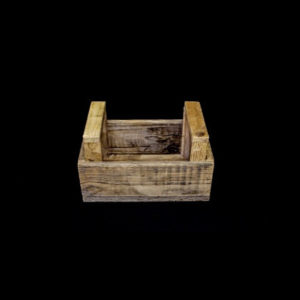 Carpinteria Product Wooden Basket With Handles