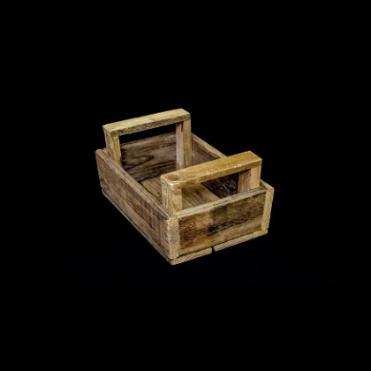 Carpinteria Product Wooden Basket With Handles2
